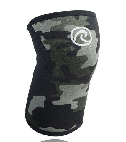 REHBAND UNISEX KNEE SLEEVES RX SUPPORT 5MM CAMO USED BY THE BEST WEIGHTLIFTERS - sweatcentral