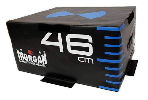 "SET OF 3 MORGAN HD MODULAR FITNESS HIGH DENSITY FOAM PLYO BOX 12"" + 18"" + 24"" sweat central"