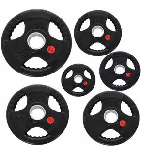 100KG HEAVY DUTY OLYMPIC RUBBER WEIGHTS PLATES PACKAGE