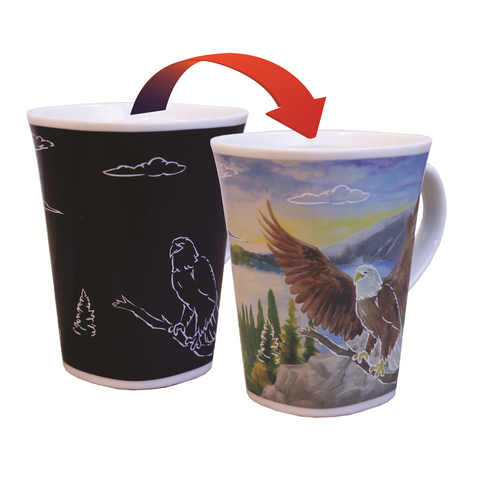 Soaring Eagle Heat Changing Tall Mugs 16 ounce capacity