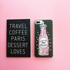 Image of GLITTER LIQUID iPHONE CASE - UNICORN COFFEE and UNICORN WATER