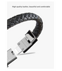 Image of STYLISH BLACK PHONE CHARGER LEATHER BRACELET