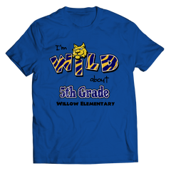I'm WILD ABOUT 5th GRADE T-SHIRT