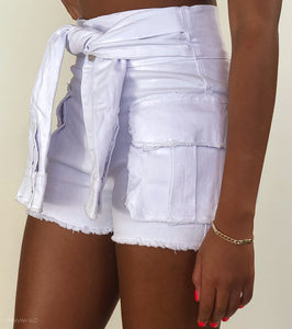 """Hug My Waist""  Sleeve Waist Shorts"