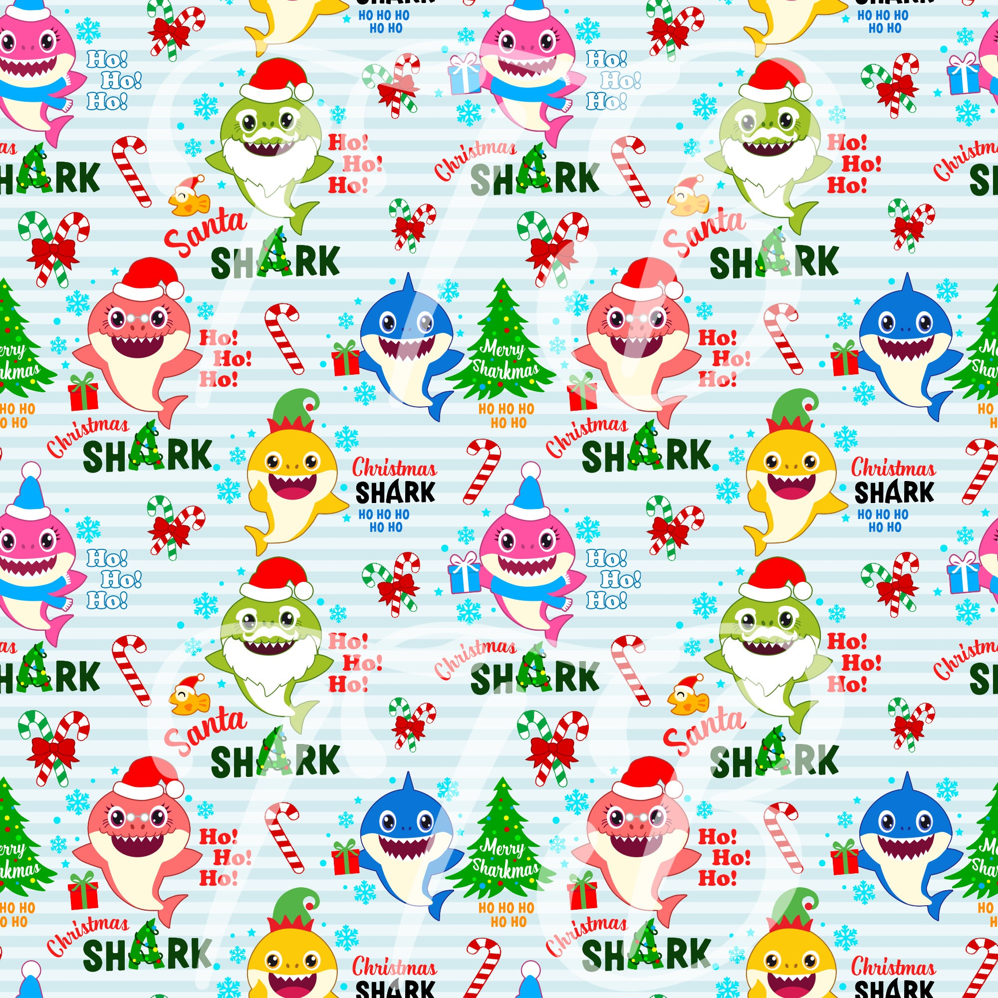 Headwrap (Christmas Shark)