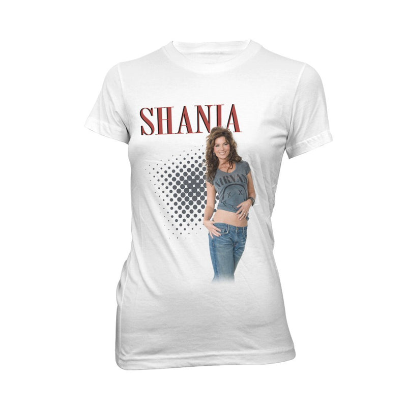 Shania Twain Graphic White T-Shirt