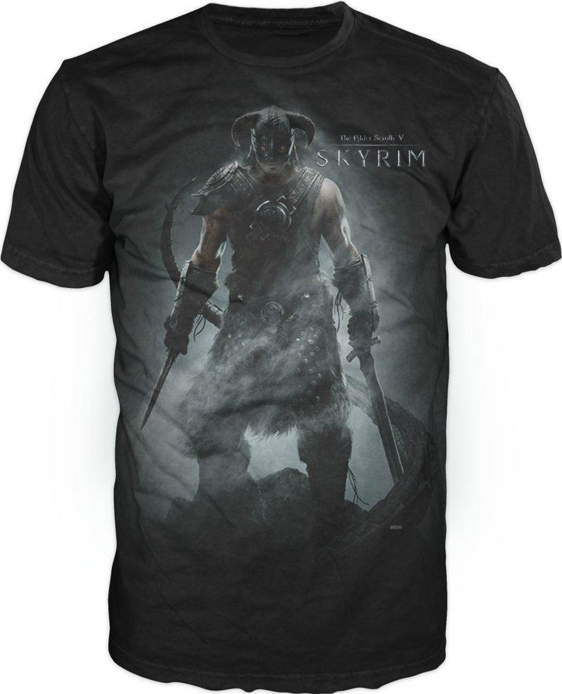 The Elder Scrolls V: Skyrim Men's Black T-Shirt Tee Shirt