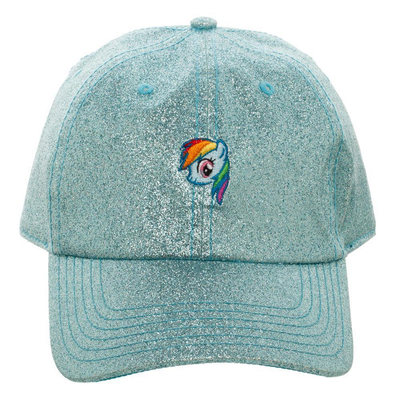 Blue Glitter Hat w/ My Little Pony Rainbow Dash