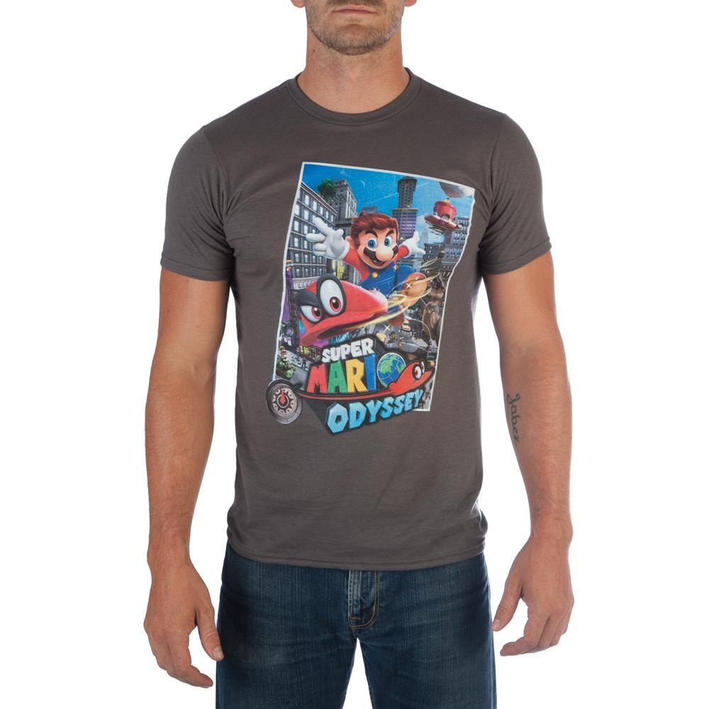 Super Mario Odyssey Logo Men's Black T-Shirt Tee Shirt