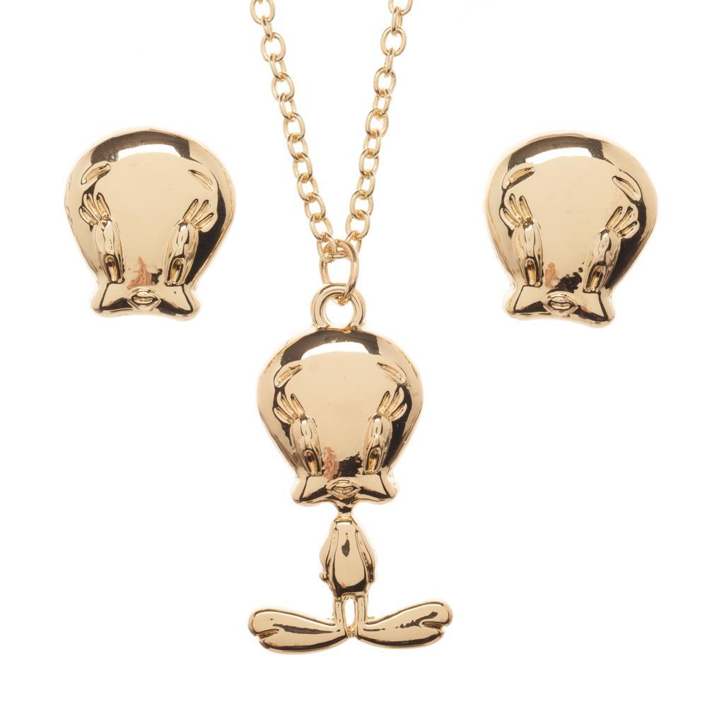 Looney Tunes Tweety Bird Jewelry Necklace and Earrings Set