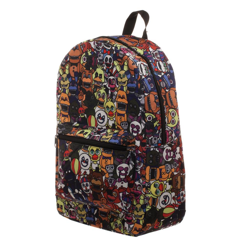 Five Nights at Freddy's Bag Sublimation Backpack w/ Five Nights at Freddy's Cartoon Stuffed Animals - Five Nights at Freddy's Gift for Gamers