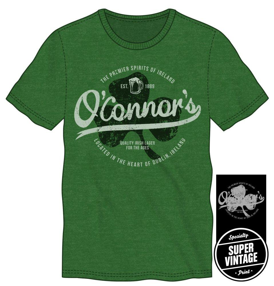 The Premier Spirits Of Ireland O'Connor's Men's Green T-Shirt Tee Shirt