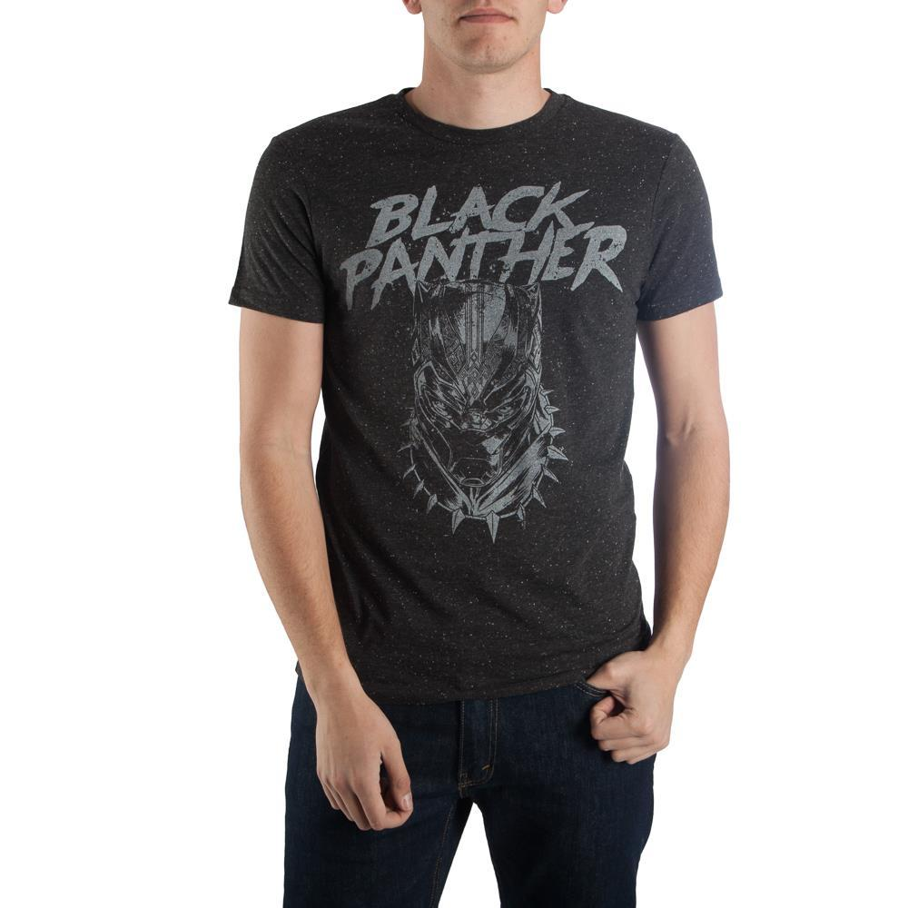 The Black Panther Mask Head T-shirt Tee Shirt