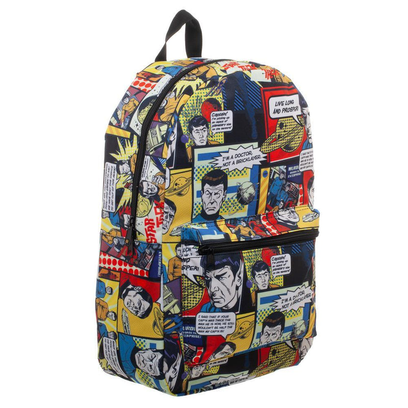 Star Trek Comic Print Star Trek Backpack Sublimated Backpack - Star Trek Bag gret Star Trek Gift