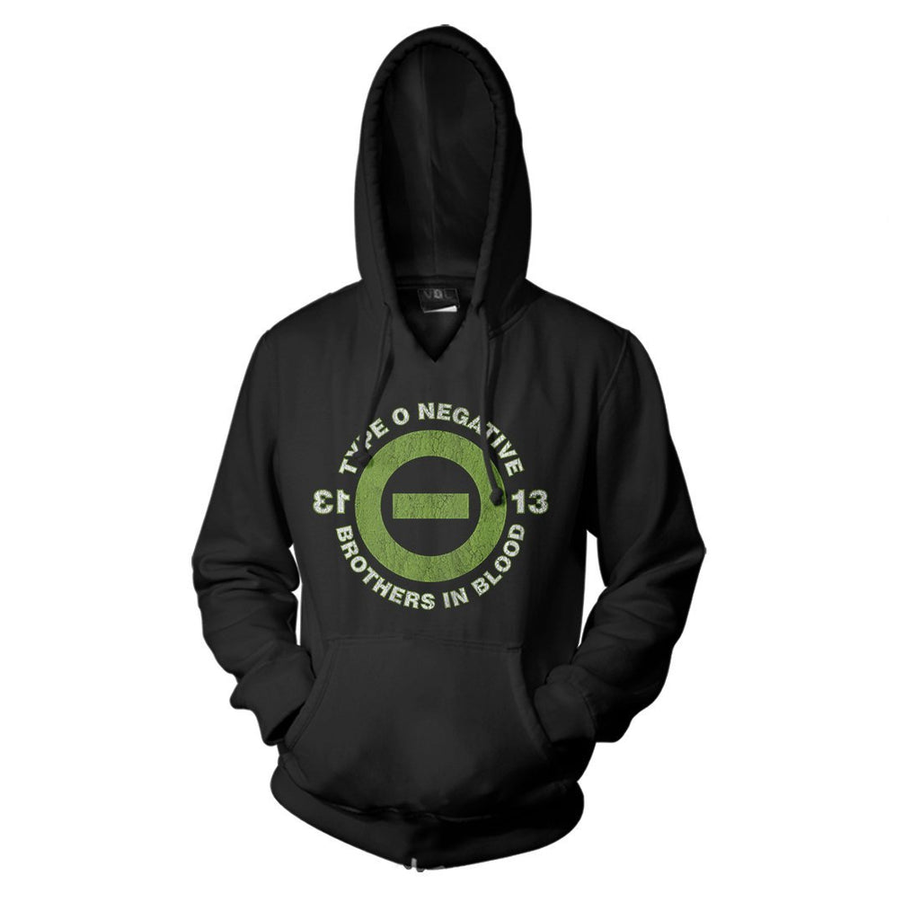 Type O Negative 13 Bob - Mens Black Pullover Hoodie