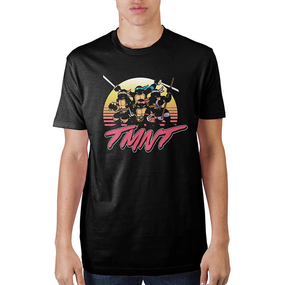 Teenage Mutant Ninja Turtles Sunset Colors Black T-Shirt