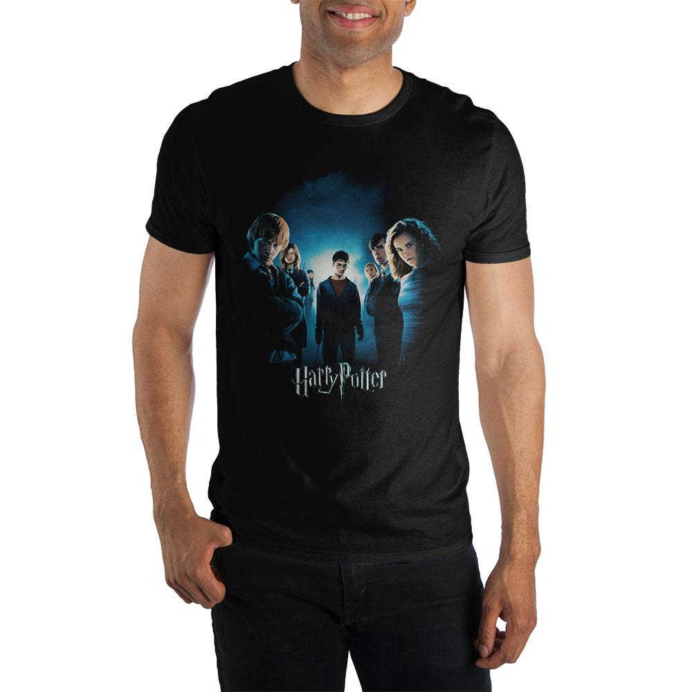 Teenage Harry Potter With Friends Men's Black T-Shirt
