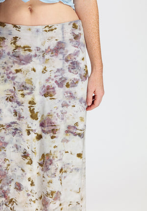 Bundle-dyed Long Skirt