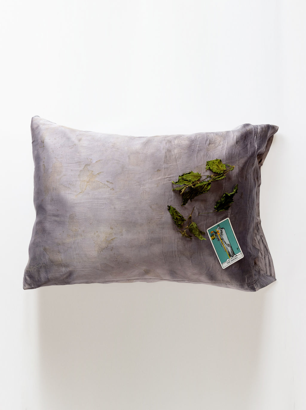 Nettle-dyed Pillowcase