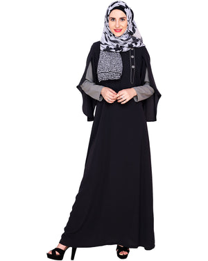Tulip Sleeved Side Open Abaya
