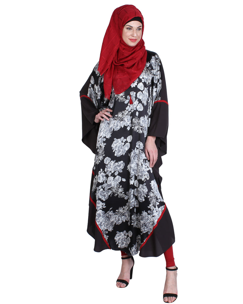 Stylish flower Blue Printed Kaftan