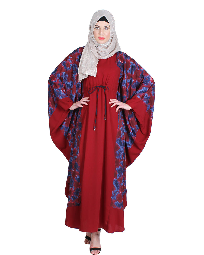 Stylish red Printed Kaftan