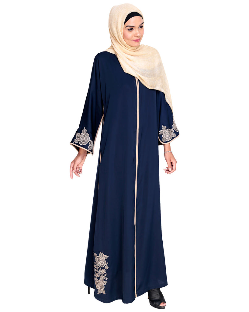 Bewitching Floral Dubai Style Embroidered Abaya