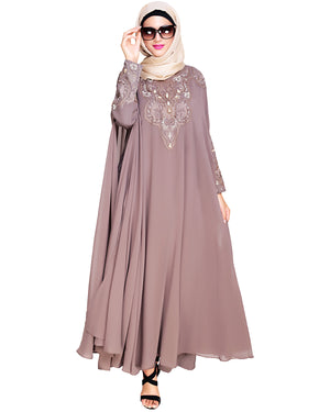 Luxury Brown Irani Kaftan