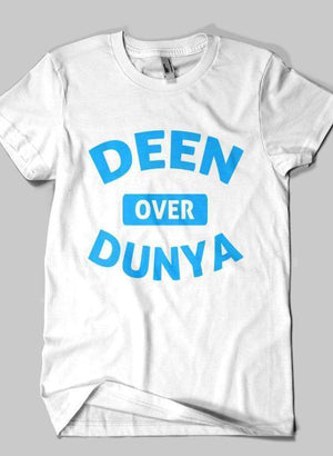Kids DEEN OVER DUNYA Islamic Half Sleeves T-shirt