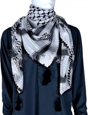 White & Black - Men Scarf Kifaya