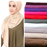 27 color High quality jersey scarf cotton plain elasticity shawls maxi hijab