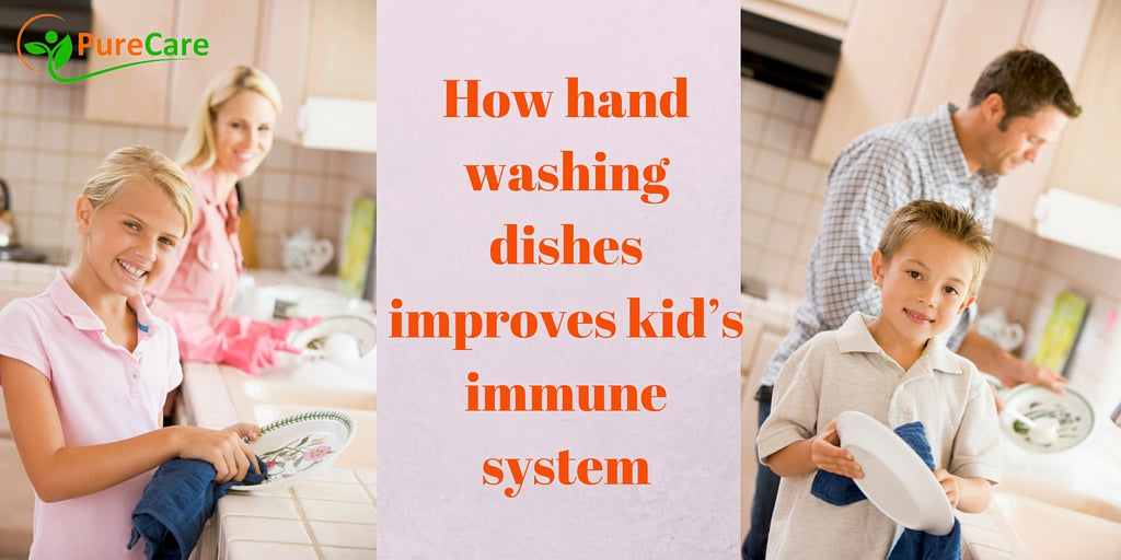 How Hand Washing Dishes Improves Kid's Immune System