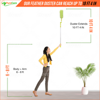 "Extendable Microfiber Duster Adjusts from 40"" to 124"""