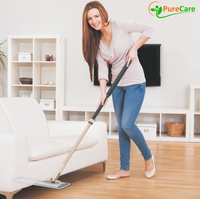 "19.5"" Pure Care EasySlide Microfiber Mop with Telescopic Handle for Hardwood, Laminate, Tile floors"