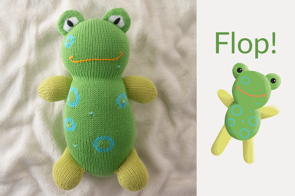 organic frog stuffed animals