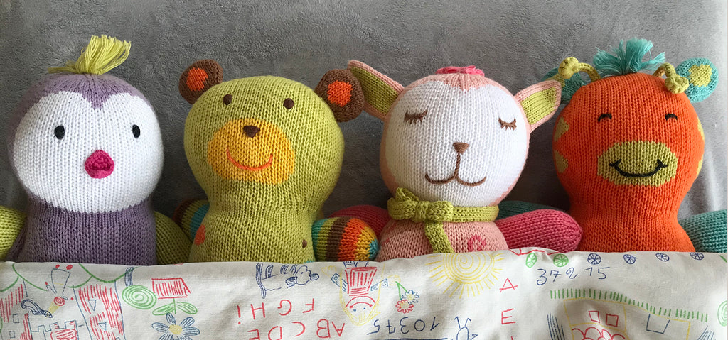 organic cotton stuffed animals with books