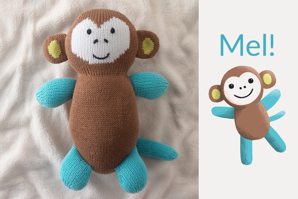 organic monkey stuffed animals