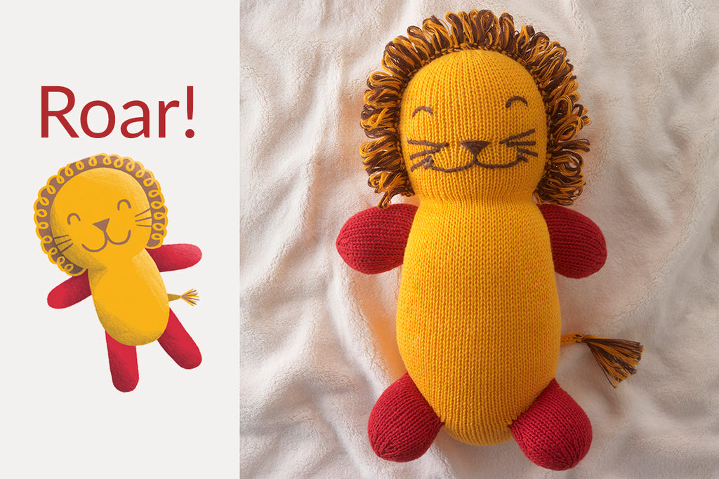 organic lion stuffed animals