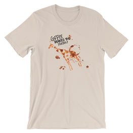 Coffee Spill Giraffe T-Shirt