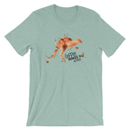 Coffee Spill Kangaroo T-Shirt
