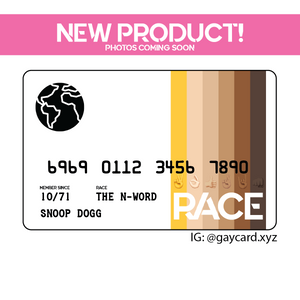 Official RACE Card - www.gaycard.xyz
