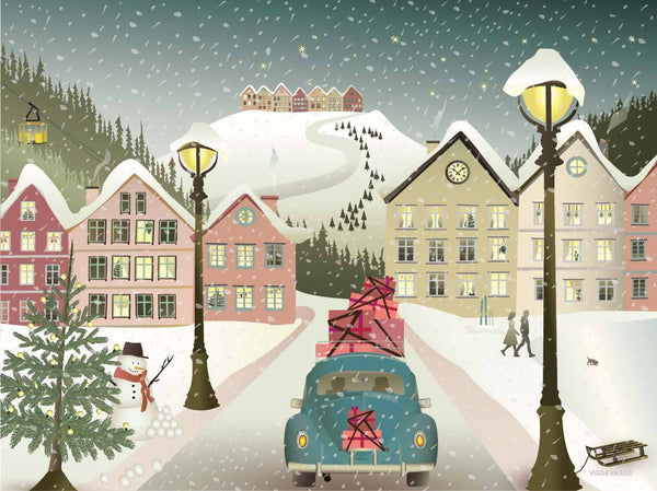 Let it snow - en juleplakat fra vissevasse