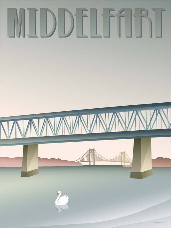 Middelfart - Old Bridge - poster