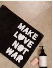 Make Love Not War Bath Mat - Charcoal/White