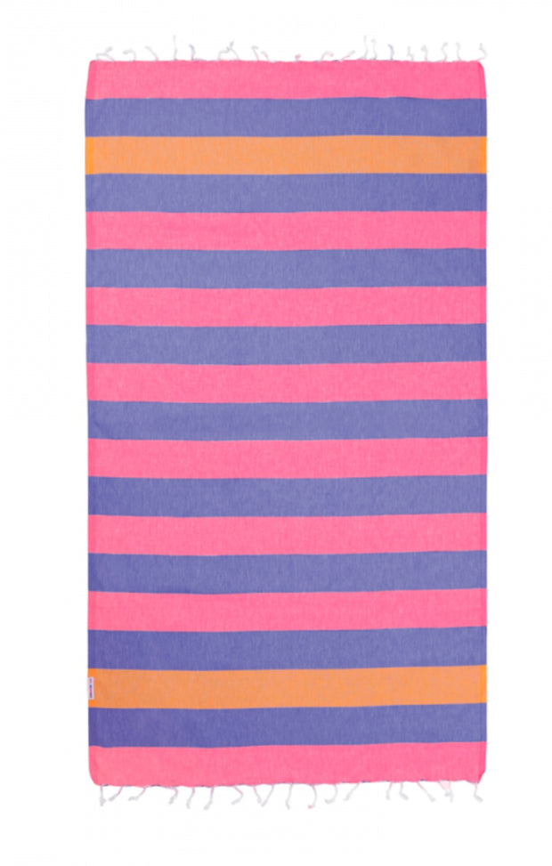 Hammamas Turkish Towel Clash Candy/Iris/Orange