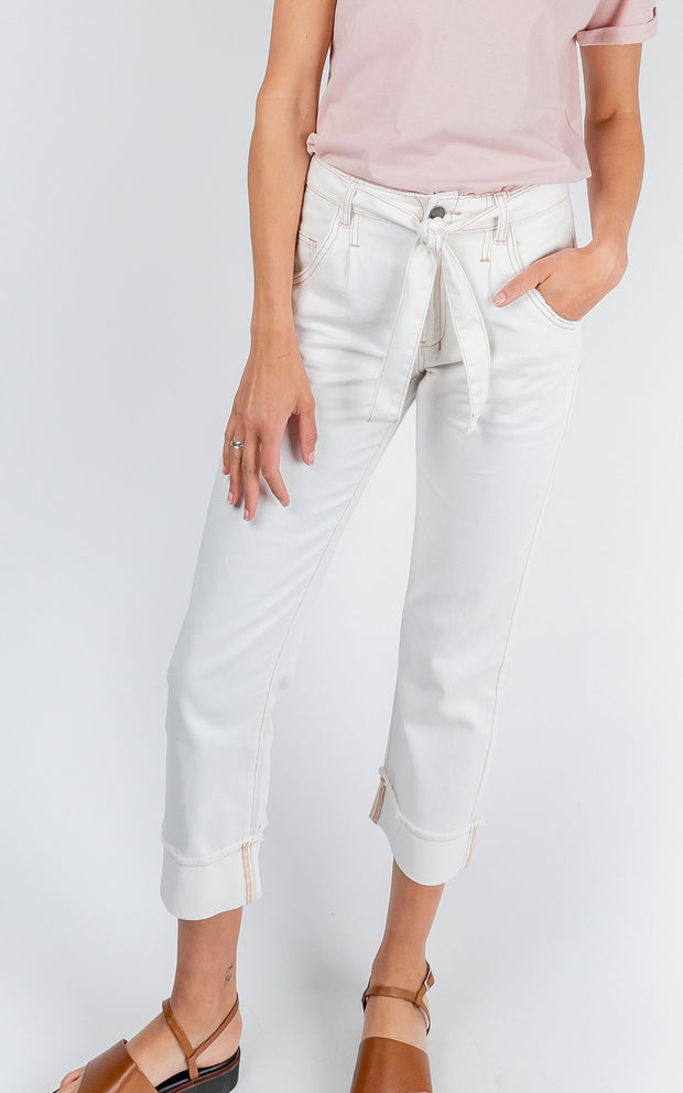 Tailored Denim Pants - White