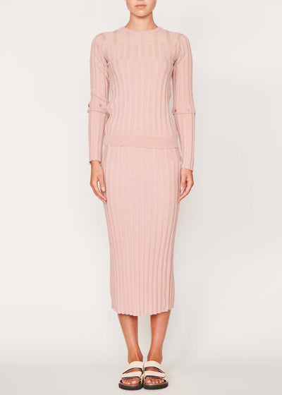 Lou Button Sleeve Knit - Pink