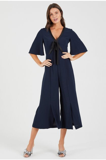 Talk to me Flared Sleeve Jumpsuit