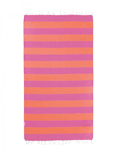 Hammamas Turkish Towel Bold Candy & Orange