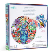 Eeboo 500pc Round Puzzle - Birds & Flowers
